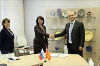 RECTOR OF UNIVERSITY OF UIST MACEDONIA VISITS NRU MGSU